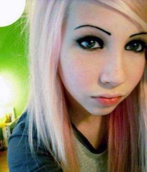 Amateur Blonde Emo Teen Selfshots
