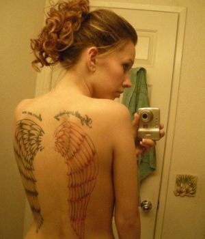 Busty Emo Amateur With Angel Wings