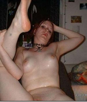 Emo Totally Wasted and Spreading Her Pussy