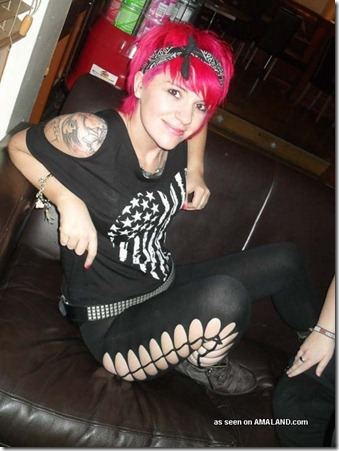Pink Haired Hipster Punk Chick Selfshots