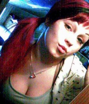 Redhead Emo Hottie Camwhoring With Cleavage View