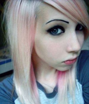 Super Cute Blonde Emo Teen